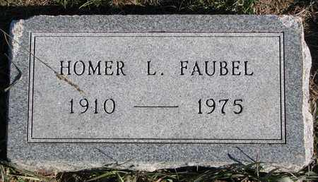 FAUBEL, HOMER L. - Cuming County, Nebraska | HOMER L. FAUBEL - Nebraska Gravestone Photos