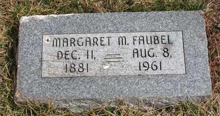 FAUBEL, MARGARET M. - Cuming County, Nebraska | MARGARET M. FAUBEL - Nebraska Gravestone Photos