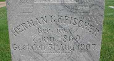 FISCHER, G.F. (CLOSE UP) - Cuming County, Nebraska | G.F. (CLOSE UP) FISCHER - Nebraska Gravestone Photos