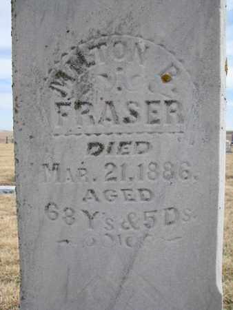 FRASER, MILTON B. (CLOSEUP) - Cuming County, Nebraska | MILTON B. (CLOSEUP) FRASER - Nebraska Gravestone Photos