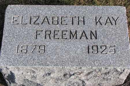 FREEMAN, ELIZABETH - Cuming County, Nebraska   ELIZABETH FREEMAN - Nebraska Gravestone Photos
