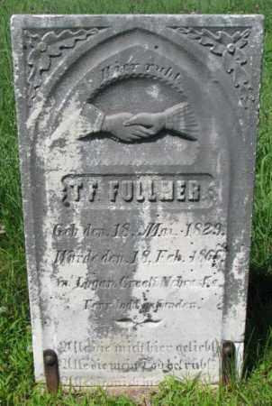 FULLER, T.F. - Cuming County, Nebraska | T.F. FULLER - Nebraska Gravestone Photos