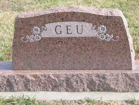 GEU, (FAMILY STONE) - Cuming County, Nebraska | (FAMILY STONE) GEU - Nebraska Gravestone Photos
