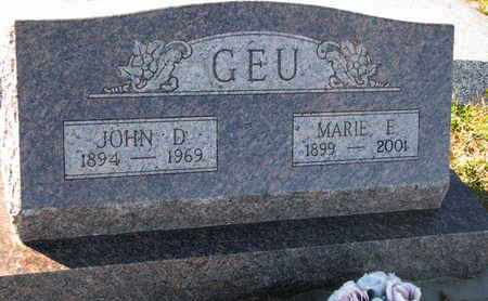 GEU, MARIE E. - Cuming County, Nebraska | MARIE E. GEU - Nebraska Gravestone Photos
