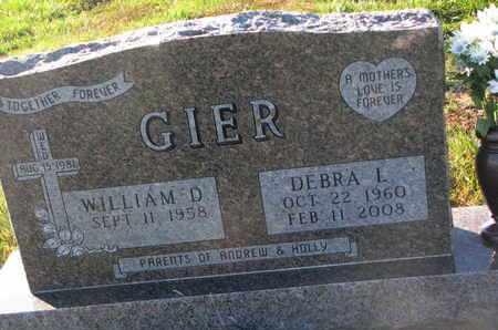 GIER, WILLIAM D. - Cuming County, Nebraska | WILLIAM D. GIER - Nebraska Gravestone Photos