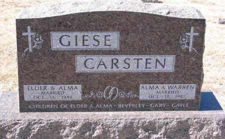 GIESE, ELDER - Cuming County, Nebraska | ELDER GIESE - Nebraska Gravestone Photos