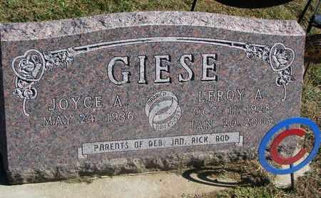GIESE, JOYCE A. - Cuming County, Nebraska | JOYCE A. GIESE - Nebraska Gravestone Photos
