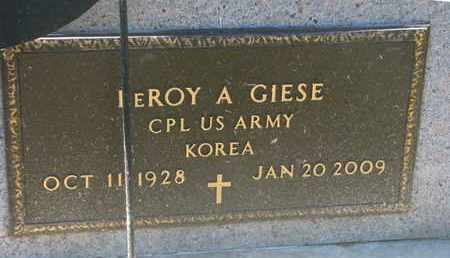 GIESE, LEROY A. (MILITARY MARKER) - Cuming County, Nebraska | LEROY A. (MILITARY MARKER) GIESE - Nebraska Gravestone Photos