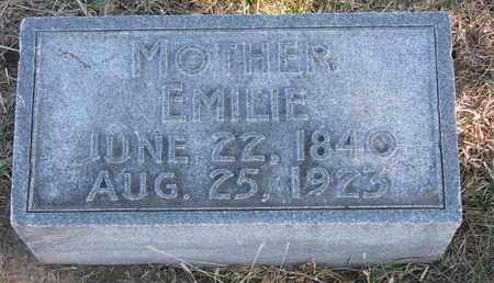 GLAUBIUS, EMILIE - Cuming County, Nebraska | EMILIE GLAUBIUS - Nebraska Gravestone Photos