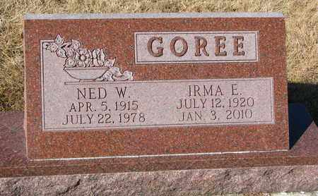 GOREE, IRMA E. - Cuming County, Nebraska | IRMA E. GOREE - Nebraska Gravestone Photos