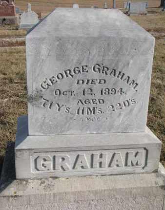 GRAHAM, GEORGE - Cuming County, Nebraska   GEORGE GRAHAM - Nebraska Gravestone Photos