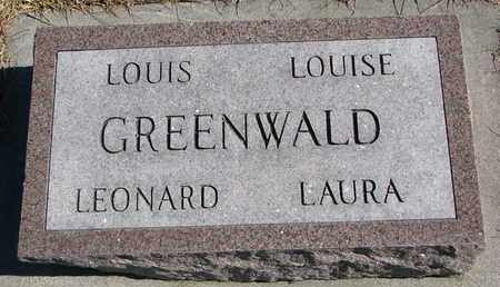 GREENWALD, LEONARD WILLIAM - Cuming County, Nebraska | LEONARD WILLIAM GREENWALD - Nebraska Gravestone Photos