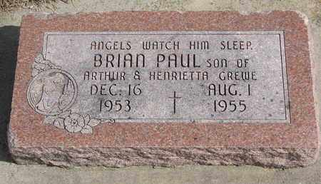 GREWE, BRIAN PAUL - Cuming County, Nebraska | BRIAN PAUL GREWE - Nebraska Gravestone Photos