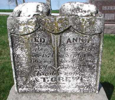 GREWE, ANNA (CLOSE UP) - Cuming County, Nebraska | ANNA (CLOSE UP) GREWE - Nebraska Gravestone Photos
