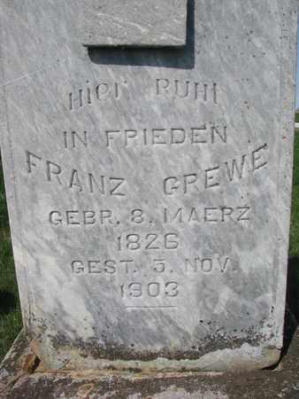 GREWE, FRANZ (CLOSE UP) - Cuming County, Nebraska   FRANZ (CLOSE UP) GREWE - Nebraska Gravestone Photos