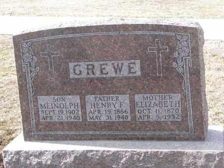 GREWE, ELIZABETH - Cuming County, Nebraska | ELIZABETH GREWE - Nebraska Gravestone Photos