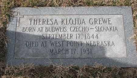 GREWE, THERESA - Cuming County, Nebraska | THERESA GREWE - Nebraska Gravestone Photos