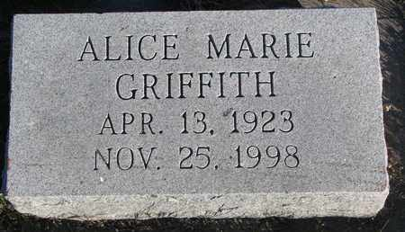 GRIFFITH, ALICE MARIE - Cuming County, Nebraska | ALICE MARIE GRIFFITH - Nebraska Gravestone Photos