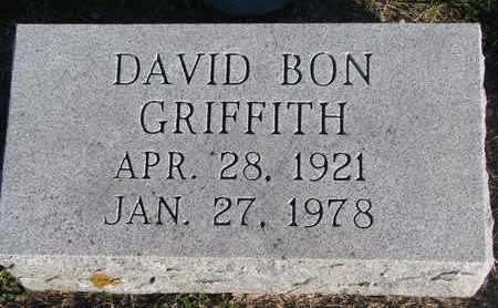 GRIFFITH, DAVID BON - Cuming County, Nebraska | DAVID BON GRIFFITH - Nebraska Gravestone Photos