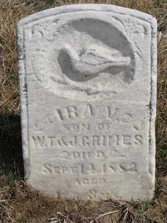 GRIMES, IRA V. - Cuming County, Nebraska   IRA V. GRIMES - Nebraska Gravestone Photos