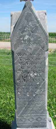 GROSSE, WILHELMINA - Cuming County, Nebraska   WILHELMINA GROSSE - Nebraska Gravestone Photos