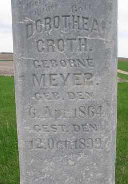 GROTH, DOROTHEA (CLOSE UP) - Cuming County, Nebraska   DOROTHEA (CLOSE UP) GROTH - Nebraska Gravestone Photos