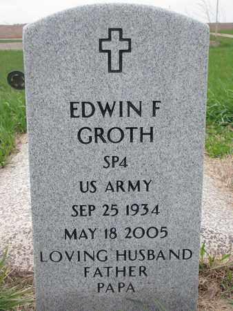 GROTH, EDWIN FRED - Cuming County, Nebraska | EDWIN FRED GROTH - Nebraska Gravestone Photos