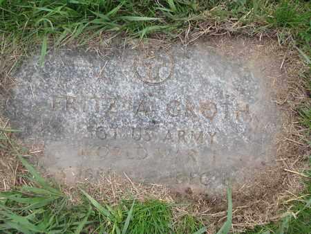 GROTH, FRITZ A. (MILITARY) - Cuming County, Nebraska | FRITZ A. (MILITARY) GROTH - Nebraska Gravestone Photos