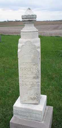 GROTH, HEINRICH - Cuming County, Nebraska | HEINRICH GROTH - Nebraska Gravestone Photos