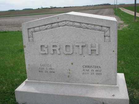 GROTH, CHRISTIAN - Cuming County, Nebraska | CHRISTIAN GROTH - Nebraska Gravestone Photos