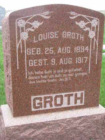 GROTH, LOUISE - Cuming County, Nebraska | LOUISE GROTH - Nebraska Gravestone Photos
