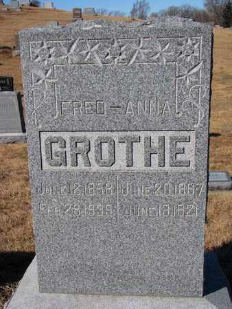 GROTHE, FRED - Cuming County, Nebraska | FRED GROTHE - Nebraska Gravestone Photos