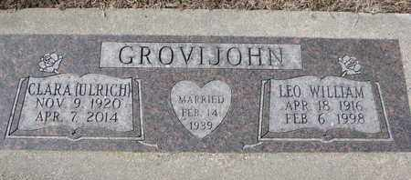 GROVIJOHN, CLARA - Cuming County, Nebraska | CLARA GROVIJOHN - Nebraska Gravestone Photos