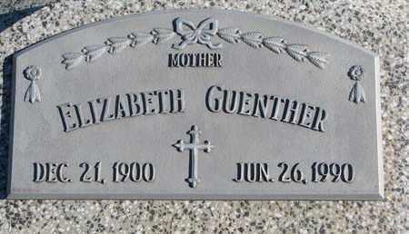 GUENTHER, ELIZABETH - Cuming County, Nebraska | ELIZABETH GUENTHER - Nebraska Gravestone Photos