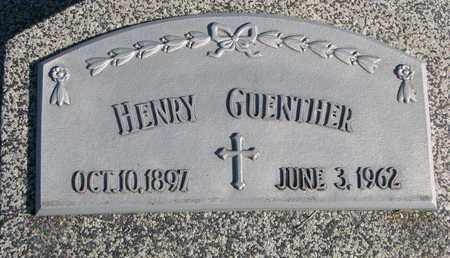 GUENTHER, HENRY - Cuming County, Nebraska | HENRY GUENTHER - Nebraska Gravestone Photos