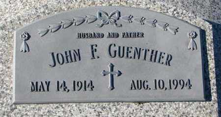 GUENTHER, JOHN F. - Cuming County, Nebraska | JOHN F. GUENTHER - Nebraska Gravestone Photos