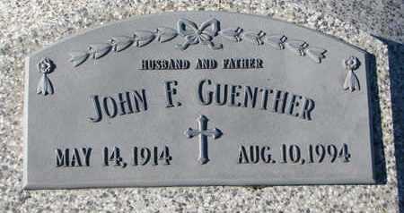 GUENTHER, JOHN F. - Cuming County, Nebraska | JOHN F. GUENTHER - Nebraska Gravestone Photos