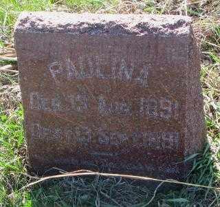 HAASE ?, PAULINA - Cuming County, Nebraska   PAULINA HAASE ? - Nebraska Gravestone Photos