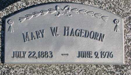 HAGEDORN, MARY W. - Cuming County, Nebraska | MARY W. HAGEDORN - Nebraska Gravestone Photos