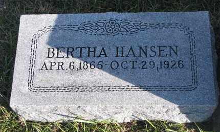 HANSEN, BERTHA - Cuming County, Nebraska | BERTHA HANSEN - Nebraska Gravestone Photos
