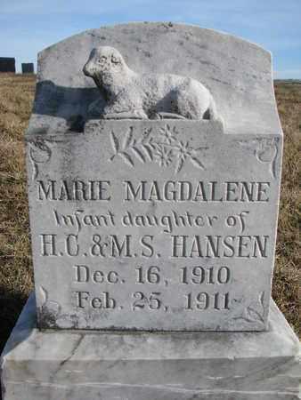 HANSEN, MARIE MAGDALENE - Cuming County, Nebraska   MARIE MAGDALENE HANSEN - Nebraska Gravestone Photos