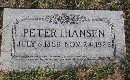 HANSEN, PETER I. - Cuming County, Nebraska | PETER I. HANSEN - Nebraska Gravestone Photos