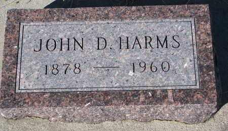 HARMS, JOHN D. - Cuming County, Nebraska | JOHN D. HARMS - Nebraska Gravestone Photos