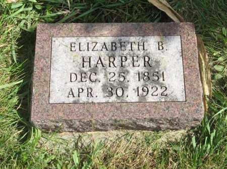 HARPER, ELIZABETH B. - Cuming County, Nebraska | ELIZABETH B. HARPER - Nebraska Gravestone Photos