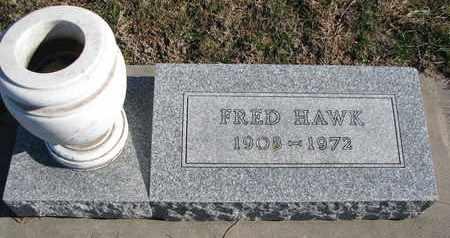 HAWK, FRED - Cuming County, Nebraska | FRED HAWK - Nebraska Gravestone Photos