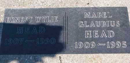 GLAUBIUS HEAD, MABEL - Cuming County, Nebraska | MABEL GLAUBIUS HEAD - Nebraska Gravestone Photos