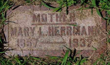HERRMANN, MARY L. - Cuming County, Nebraska | MARY L. HERRMANN - Nebraska Gravestone Photos