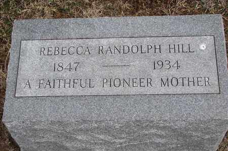 HILL, REBECCA - Cuming County, Nebraska | REBECCA HILL - Nebraska Gravestone Photos