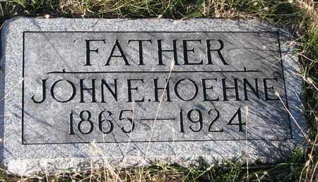 HOEHNE, JOHN E. - Cuming County, Nebraska | JOHN E. HOEHNE - Nebraska Gravestone Photos
