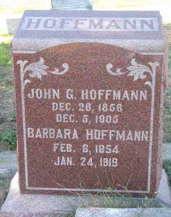 HOFFMANN, JOHN G. - Cuming County, Nebraska | JOHN G. HOFFMANN - Nebraska Gravestone Photos